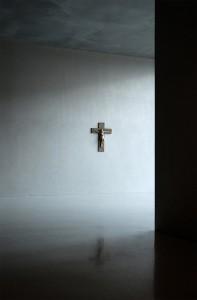 Kruzifix an einer Wand