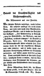 Titelseite von Fichtes Essay