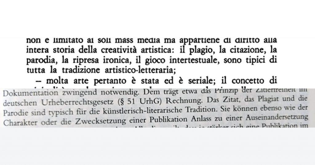 """Ausschnitte aus Ecos """"Sugli specchi"""" und dem DSGVO-Kommentar von Kühling/Buchner."""